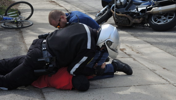 Felony charge for combative biker