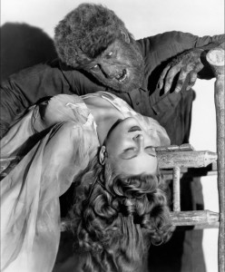 A publicity still from the 1941 movie, staring Lon Chaney, Jr.