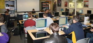 Kids in the the Information Technology fourth hour class. Photo by Jessica Steeley