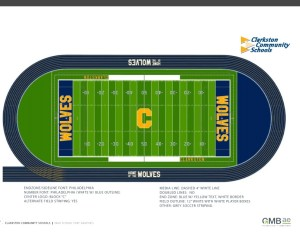 The field at Clarkston High School stadium as well as the track will get a new look and design.
