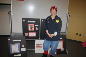 Donnaleen Lanktree of the American  Rosie the Riveter Association talked about the role of women in WWII.