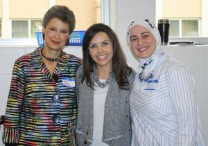 Gail Katz, Judaism; April Cook, Christianity; Ranya Shbeib, Islam 2