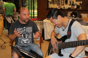 "Jim Territo and Takashi Iio rehearse for the upcoming premiere of ""The Daedalus 2 Mission: A Space Opera"" on Aug. 10. Photo provided"