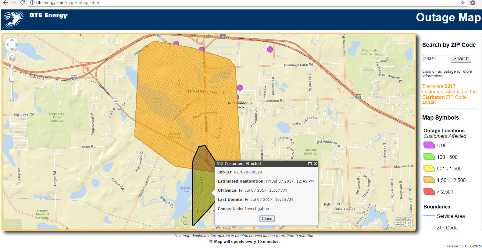 Power Outage Map Al.Wind To Blame For Clarkston Power Outage Clarkston News