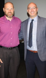 Dr. Rod Rock with Dr. Gabe Paoletti. Photo by Jessica Steeley
