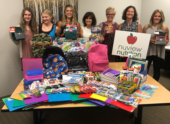 Nuview, community help to start school year