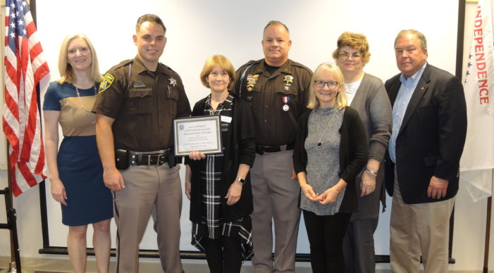 Training officer honored as deputy of the year