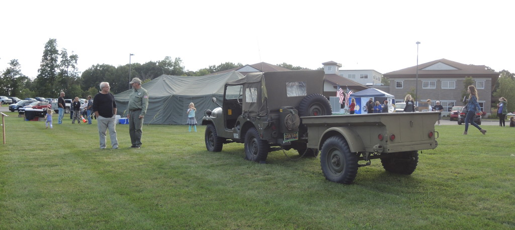 Terry Shelswell of Clarkston brought his vintage army Jeep to the event.
