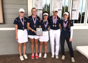 The Clarkston Girls Varsity Golf team won their first tournament in the season. Photo provided