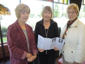 From left, Oakland Town Hall members Linda Kolody of Clarkston, Glenda Katchka of Waterford, and Kathy Kracht of Rochester Hills are getting ready for a new season of speakers. Photo by Phil Custodio