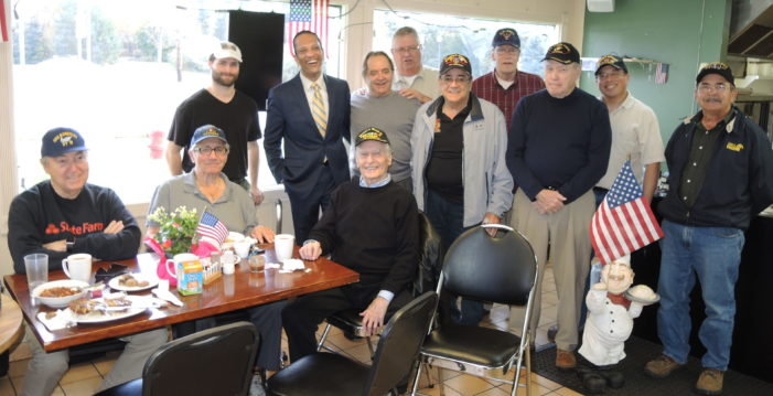 Food, fellowship with WWII vet