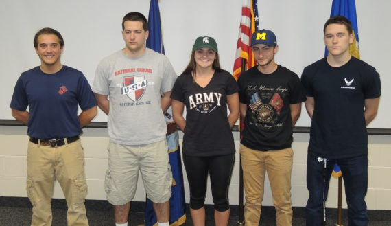 Military signers honored for service