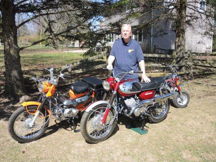 Vintage motorbikes make life interesting