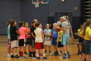 Campers prep for a scrimmage. Photo by Wendi Reardon