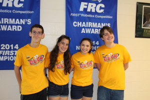 From left, Brandon Kirk, Val Vargas, Megan Haddad and Gabe Weir prepare for the RUSH Regatta. Photo by Wendi Reardon