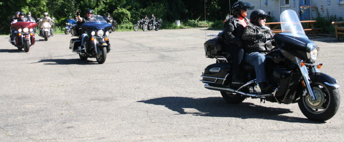 Riding to help children of the fallen