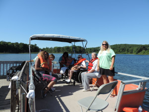 The event includes pontoon boat rides on the lake. Photo provided
