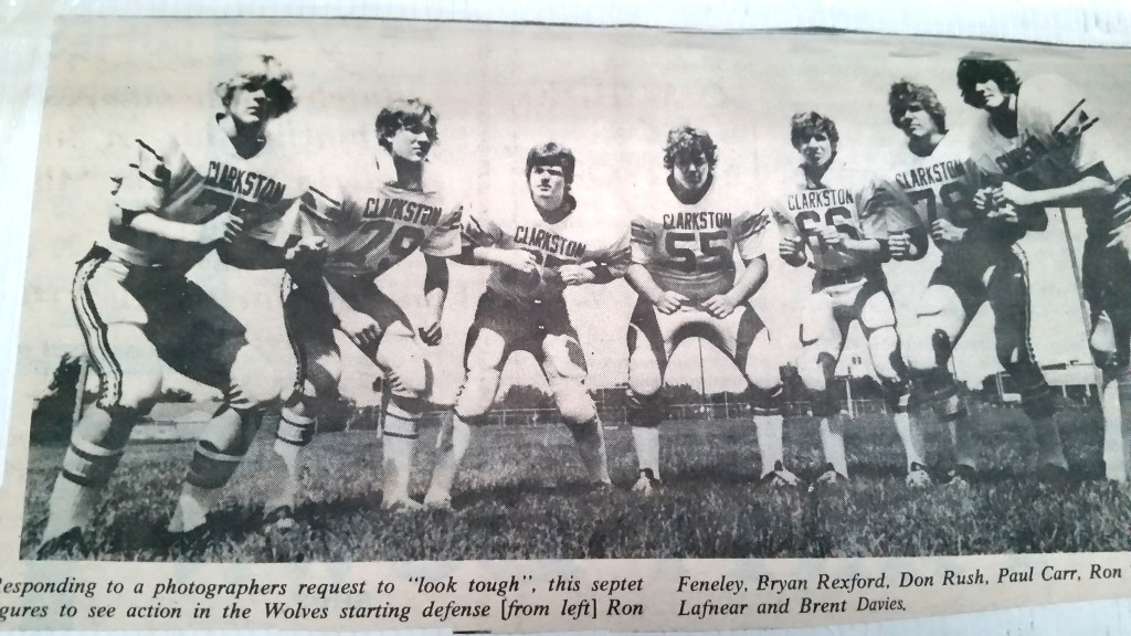 "From The Cnews' archives. In the middle with ""awesome"" form, me."
