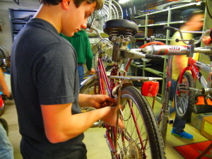 Jon Wasiel refurbished bikes and donated them to Cesar Chavez academy in Detroit for his Eagle Scout project.  Photo provided