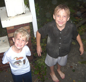 The Not-So-Stinky Rush lads playing in the rain 11 years ago