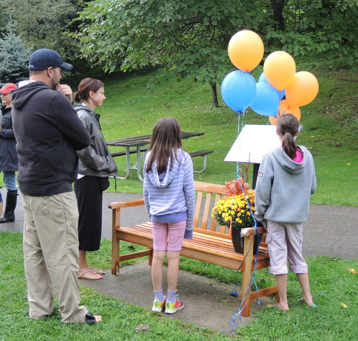 Bench dedicated in memory of Beck