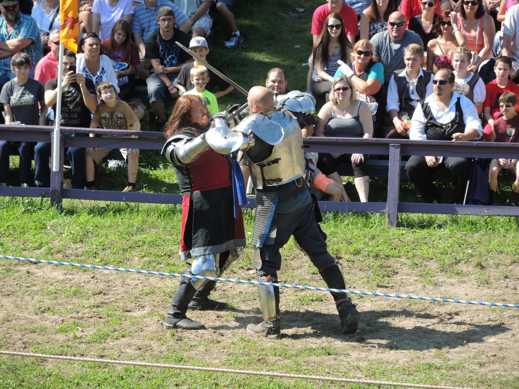 Knights battle for glory and honor on the jousting field.