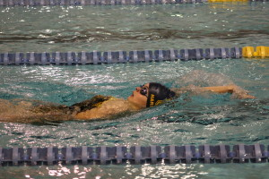Natalie Harshman swims a lap in the 200-yard IM event. She finished in sixth place, 3:13.44. Photo by Wendi Reardon Price