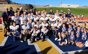 The Clarkston Chiefs JV White team celebrate being Superbowl champions. Photo provided