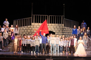 The cast of Les Miserables gathers for rehearsal at Clarkston High School. Photos by Wendi Reardon Price