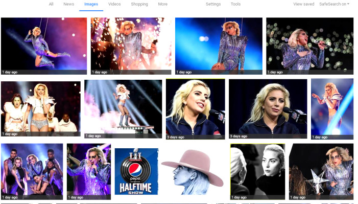 Googled Gaga and got Snagglepussed. A Super Bowl revisited.