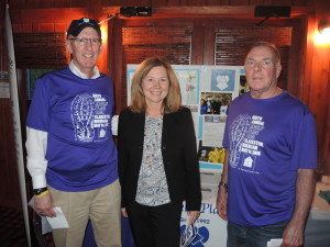 From left, Paul Maxwell, Carole Karbon, and Dave Cushing are helping plan this year's race to benefit Angels' Place. Photo by Phil Custodio