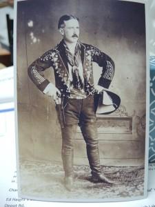 E. Frederic Hawley in costume, 1914.