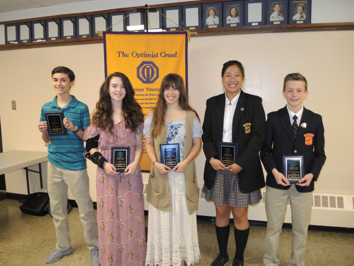 Optimist honors for student citizens
