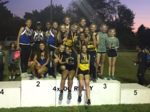 Lady Wolves from the Clarkston Junior High School Girls Track and Field team after the county meet. Photo provided