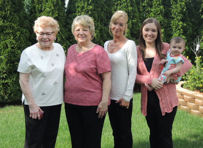 Christmas baby makes five generations