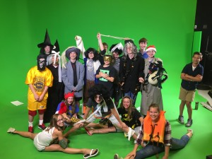 Students learned TV production techniques at Independence Television summer camp. Photo Provided.
