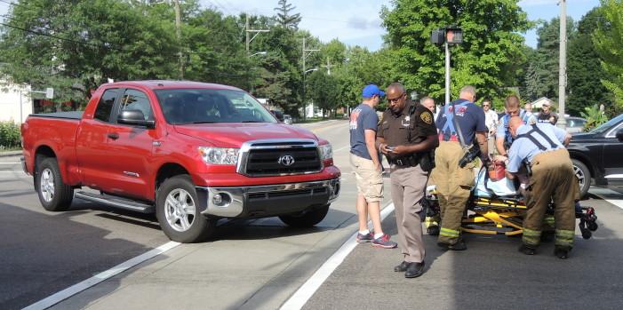 Pedestrian struck on Main Street