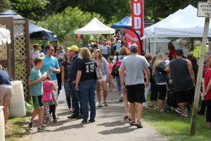 Fans of the arts and fall fun fill Depot Park at last year's Art in the Park. Photo provided