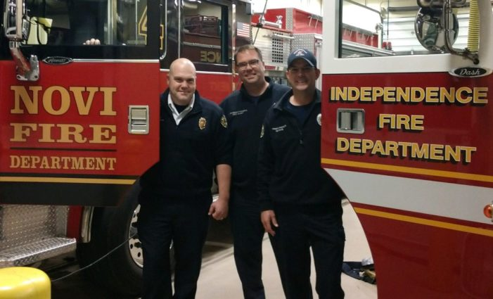Firefighters answer call for aid
