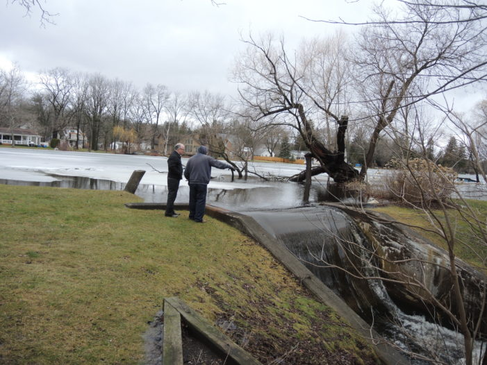 Melting snow, rain flood local waterways