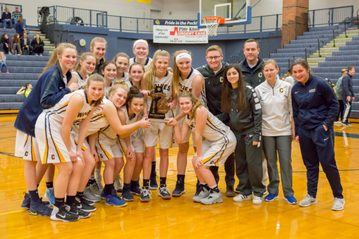 Cagers rule home turf for district championship