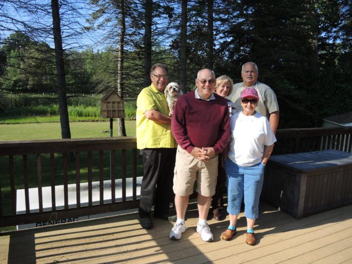New cedar birdhouse/condo for senior center garden