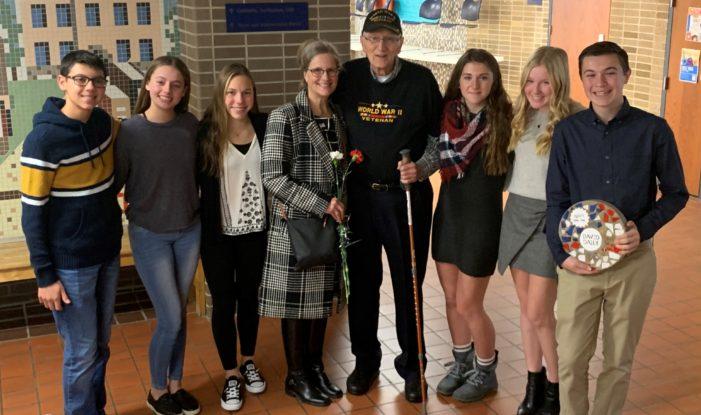 Junior high honors local World War II veteran