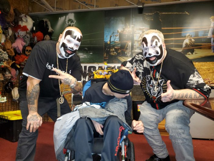 Fan finds good cheer with Insane Clown Posse