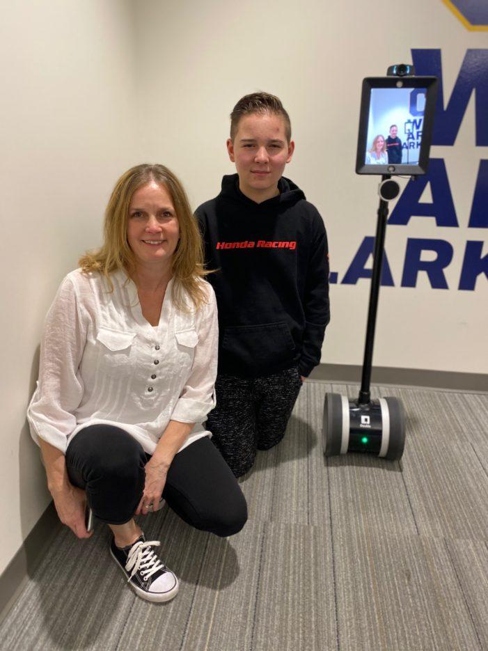 Junior high student gets robot assistance