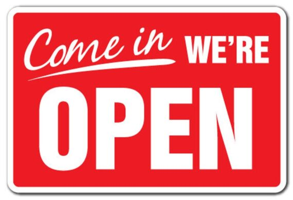 Are you open for business? Let us know!