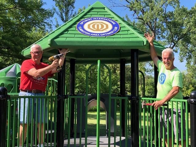 Optimists leaving mark on city, Depot Park, with more on the way