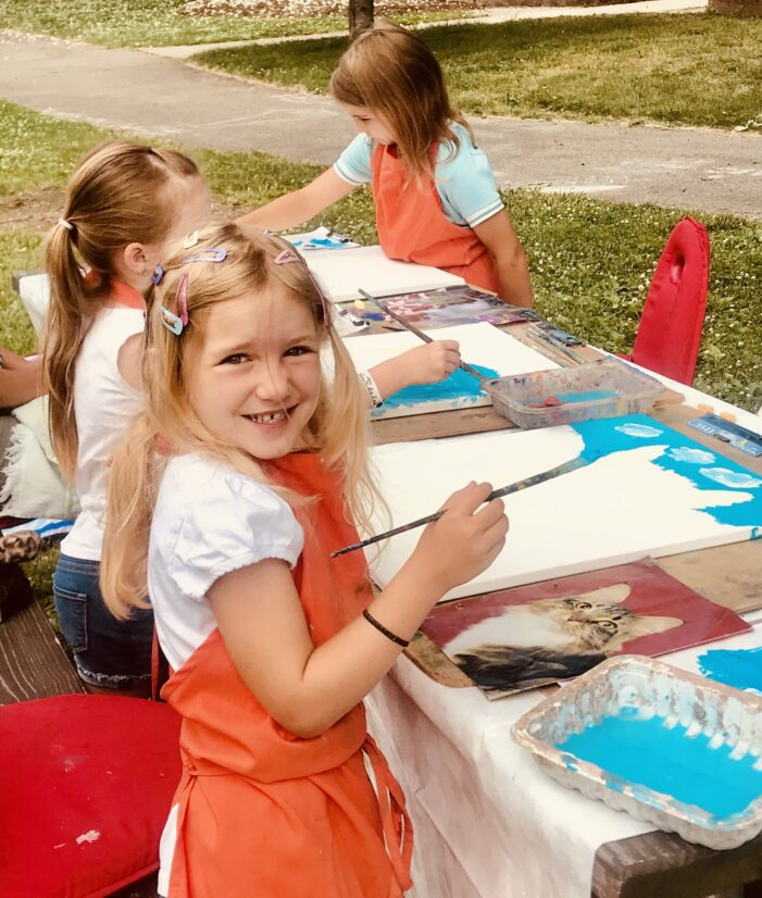 Kids of all ages can enjoy art during summer months
