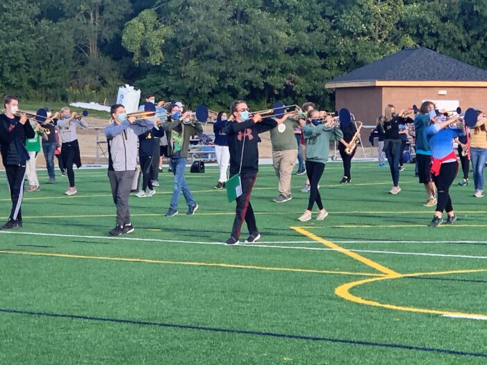 CHS band takes to the brand-new turf