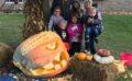 Happy Halloween from a 1000-pound pumpkin